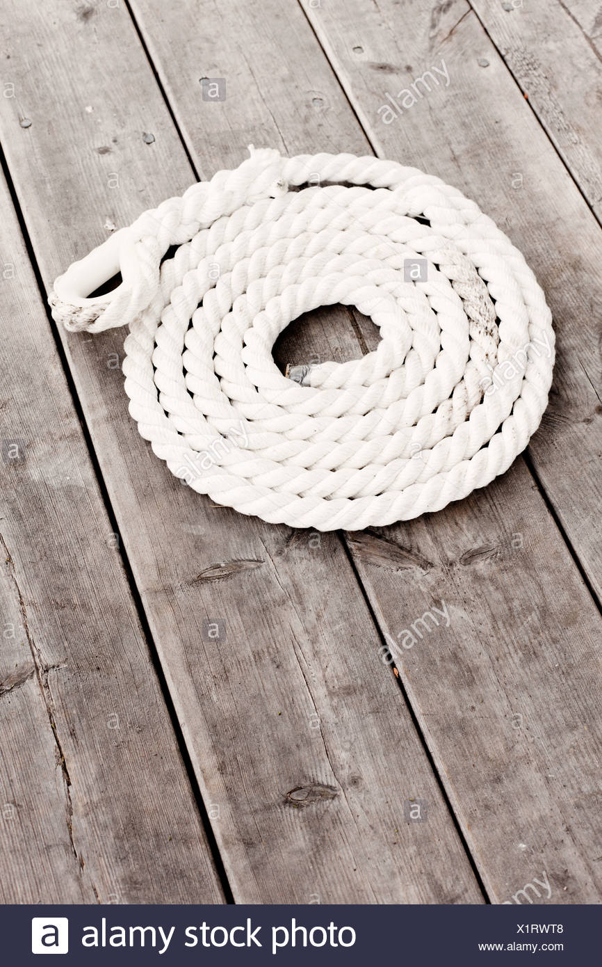 High angle view of rope Photo Stock