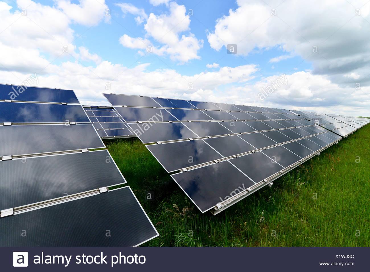 L'Allemagne, des cellules photoélectriques de solar power plant Photo Stock