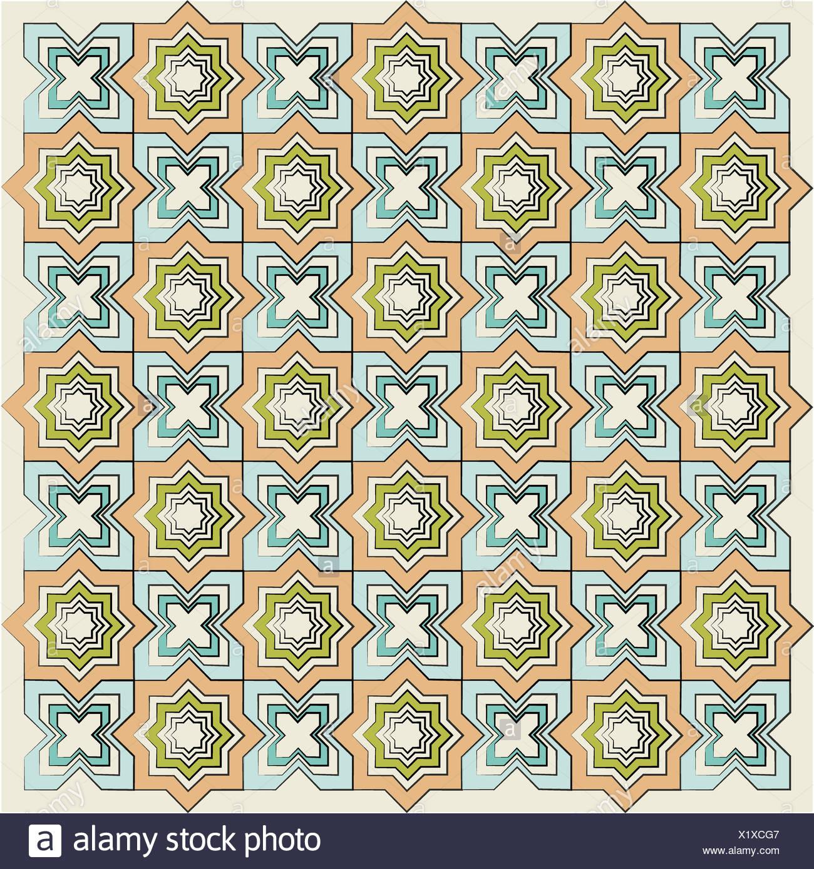 Version texture linéaire islamique Photo Stock