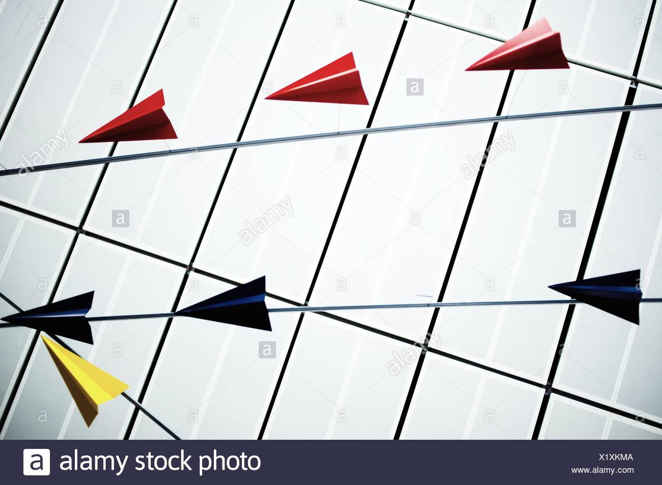 Avions origami Photo Stock