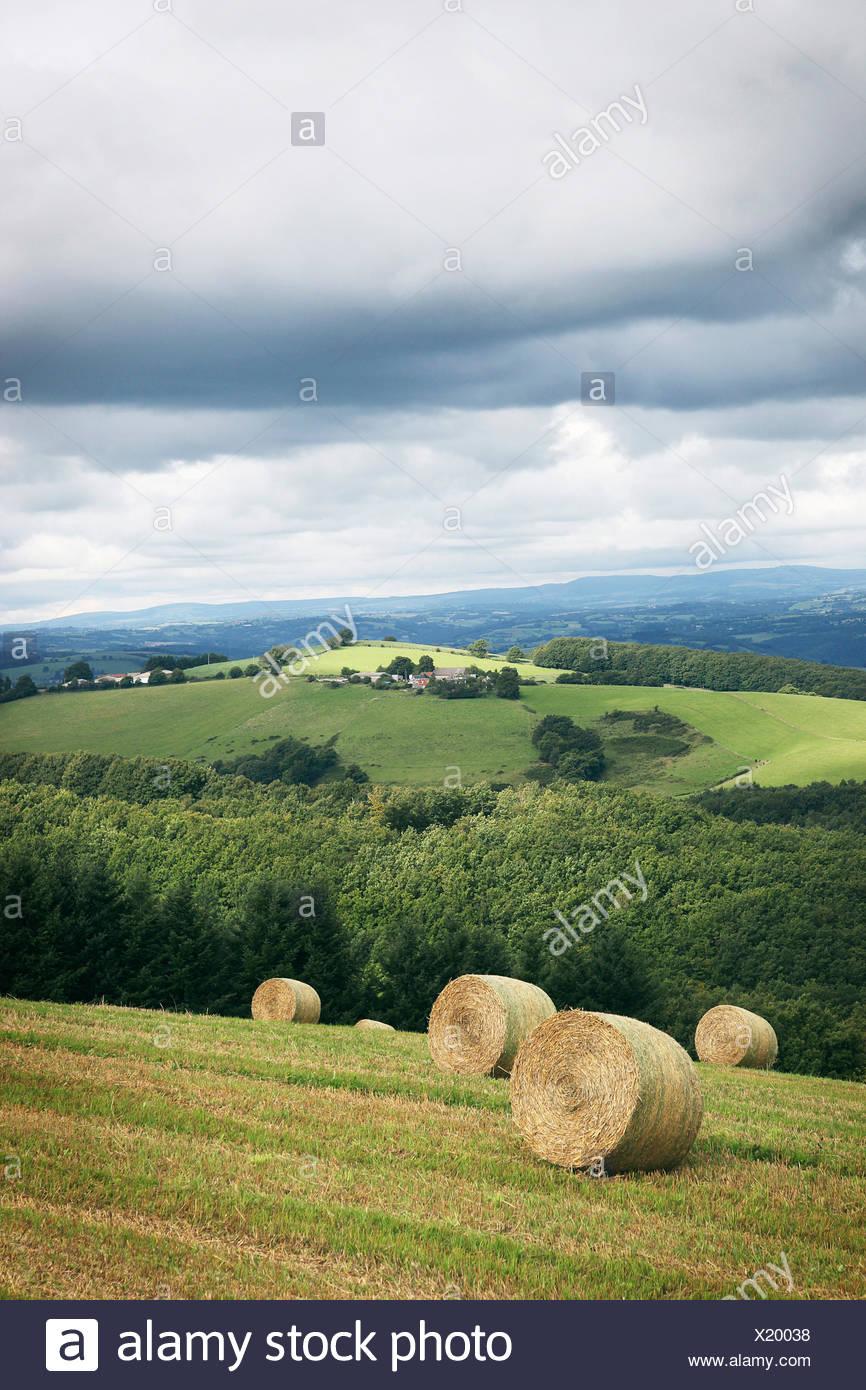 Paysage du Cantal en Auvergne, France. Banque D'Images