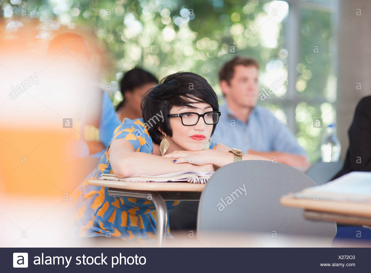 Students in classroom Photo Stock