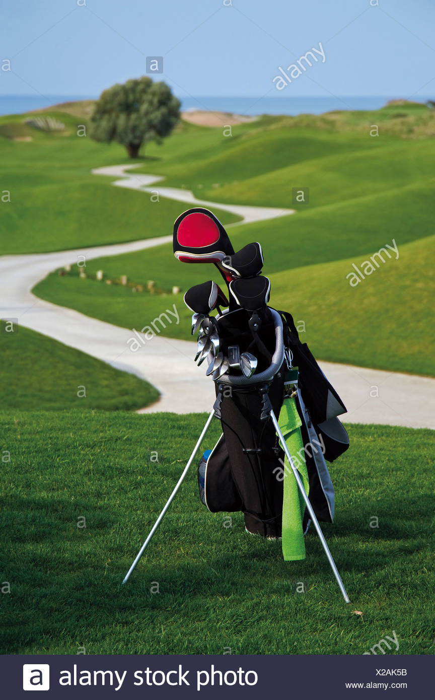 La Turquie, Antalya, club de golf en sac de golf Photo Stock