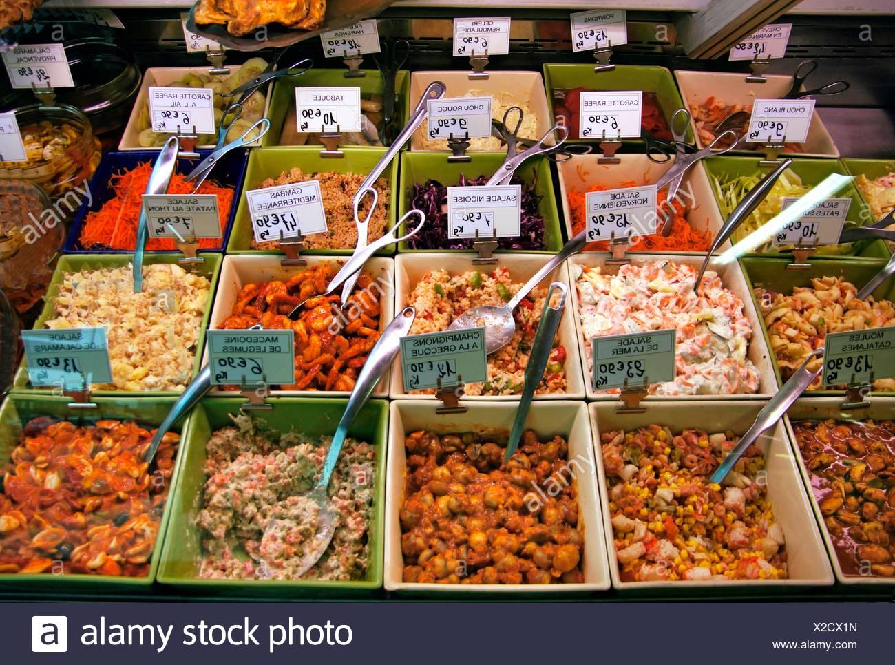 La préparation de l'aliment à Eauze, Gers, Midi-Pyrénées, France Photo Stock