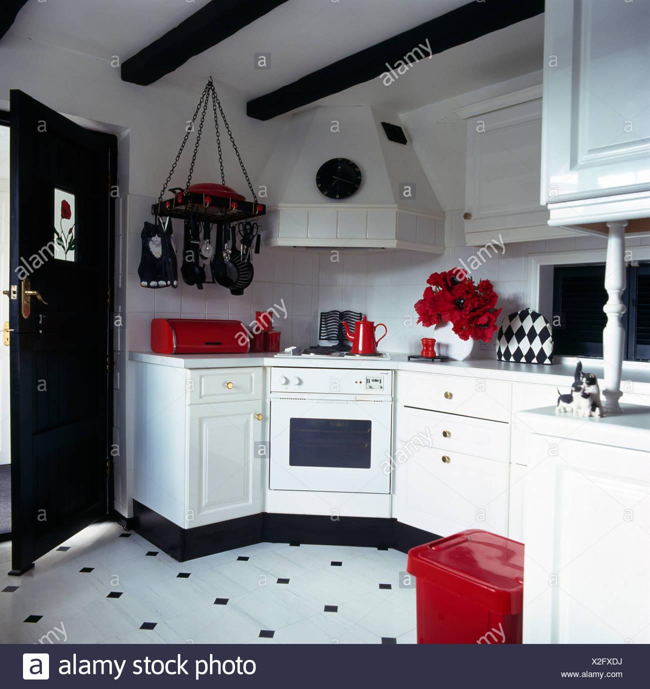 Accessoires Rouge En Noir Et Blanc Blanc Noir Cuisine Avec