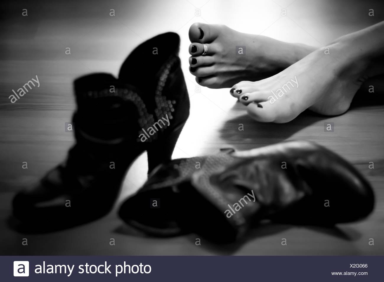 USA, Louisiane, Nouvelle-Orléans, New Orleans Parish, pieds nus et chaussures Photo Stock