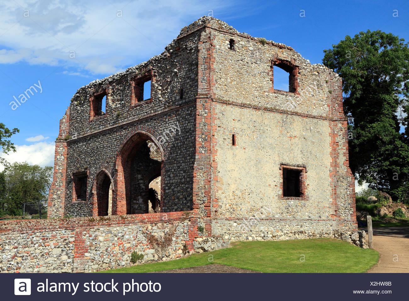 Castle Acre Prieuré Gatehouse, Norfolk, England UK 15e siècle anglais prieurés médiévaux Photo Stock
