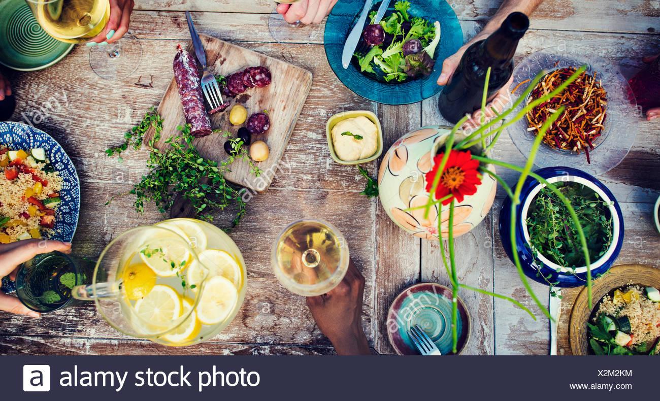 Nourriture boissons repas partie verre Concept Photo Stock