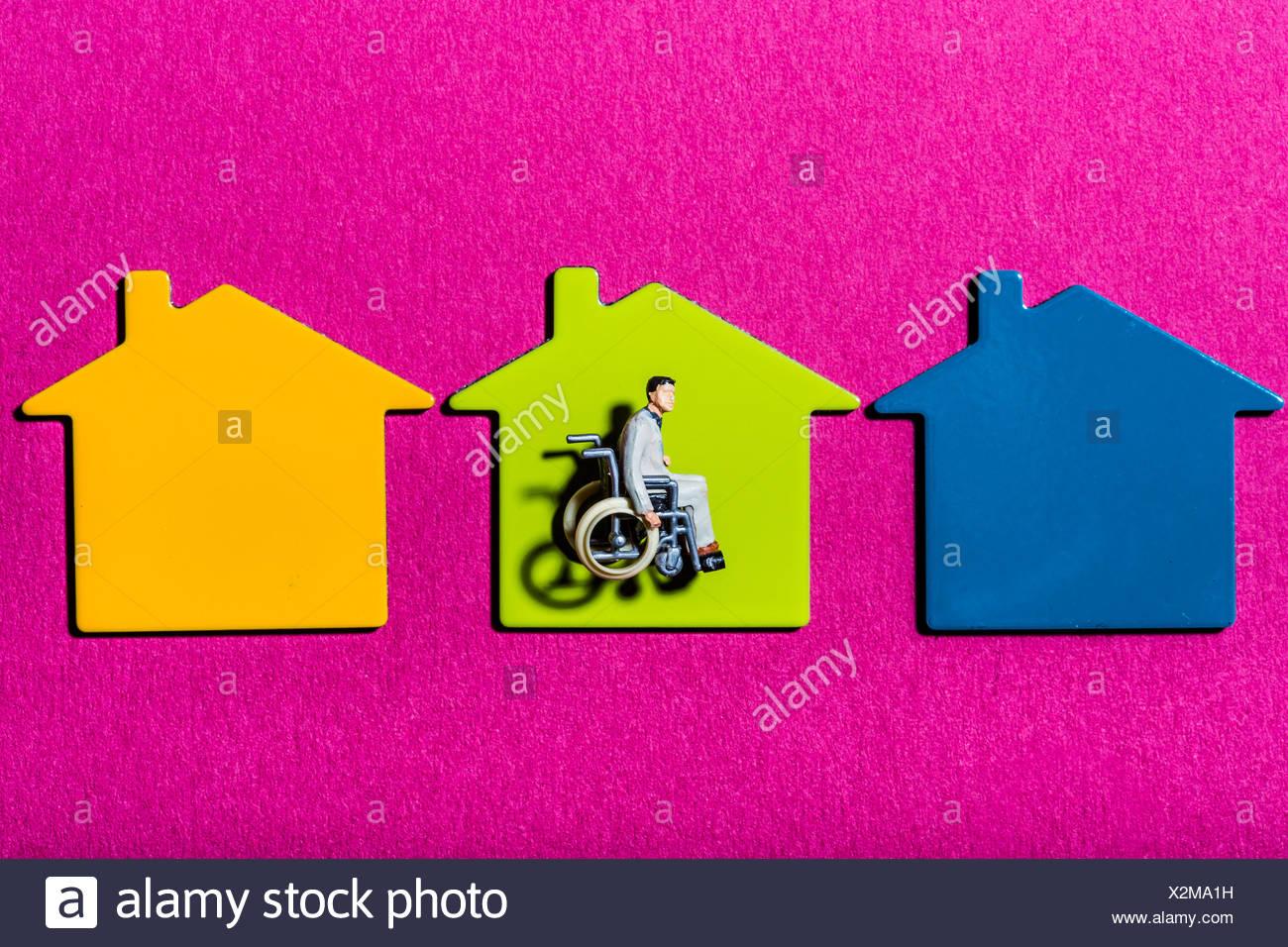 Image conceptuelle sur l'accessibilité pour handicapés physiques. Photo Stock