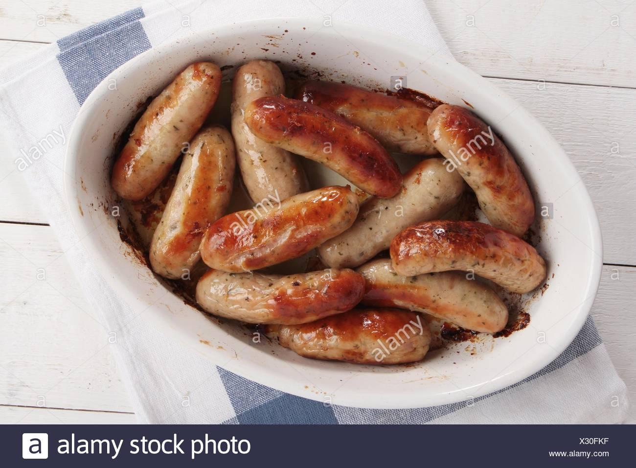 dîner de saucisses Photo Stock