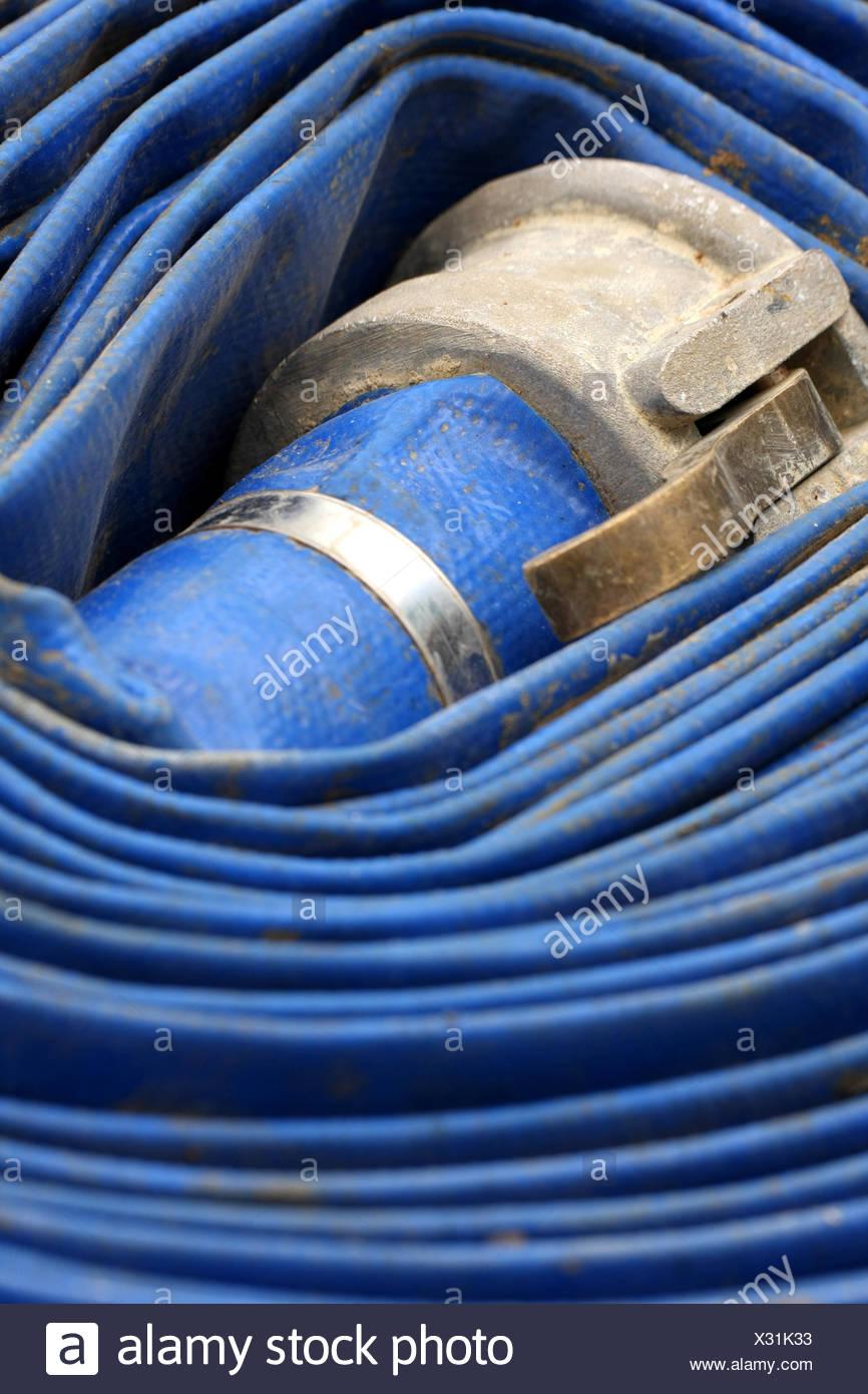 ,Bleu,objets,rouleau laminé,flexible Photo Stock