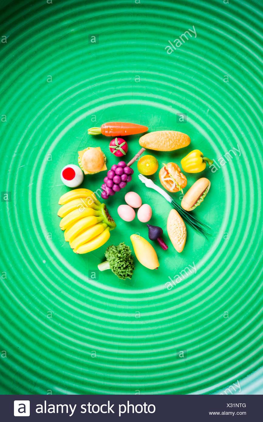 Image conceptuelle d'une alimentation saine. Banque D'Images
