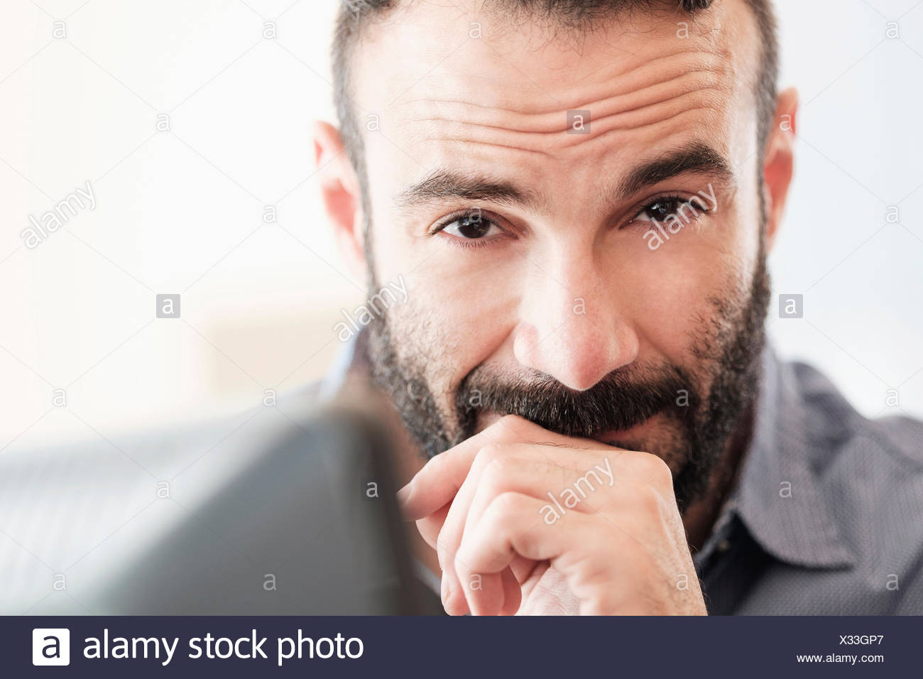 Portrait of mid-adult man Photo Stock