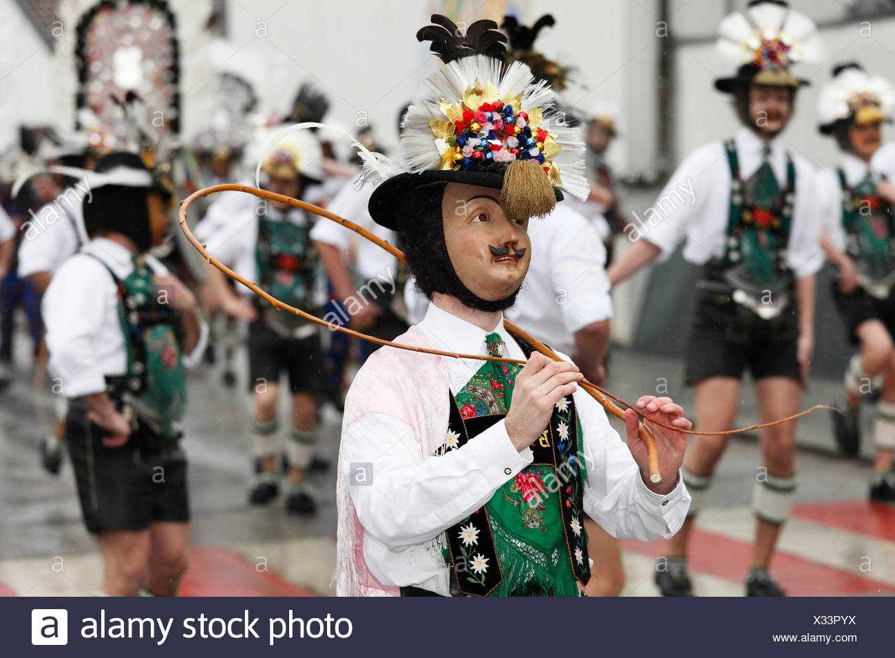 Mullerlaufen dans parade 80331 München, tradition du carnaval, Tyrol, Autriche Photo Stock