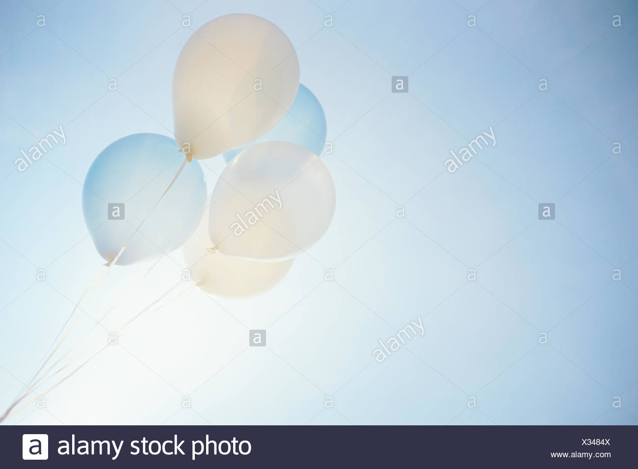 Low Angle View Of Balloons Against Sky Photo Stock