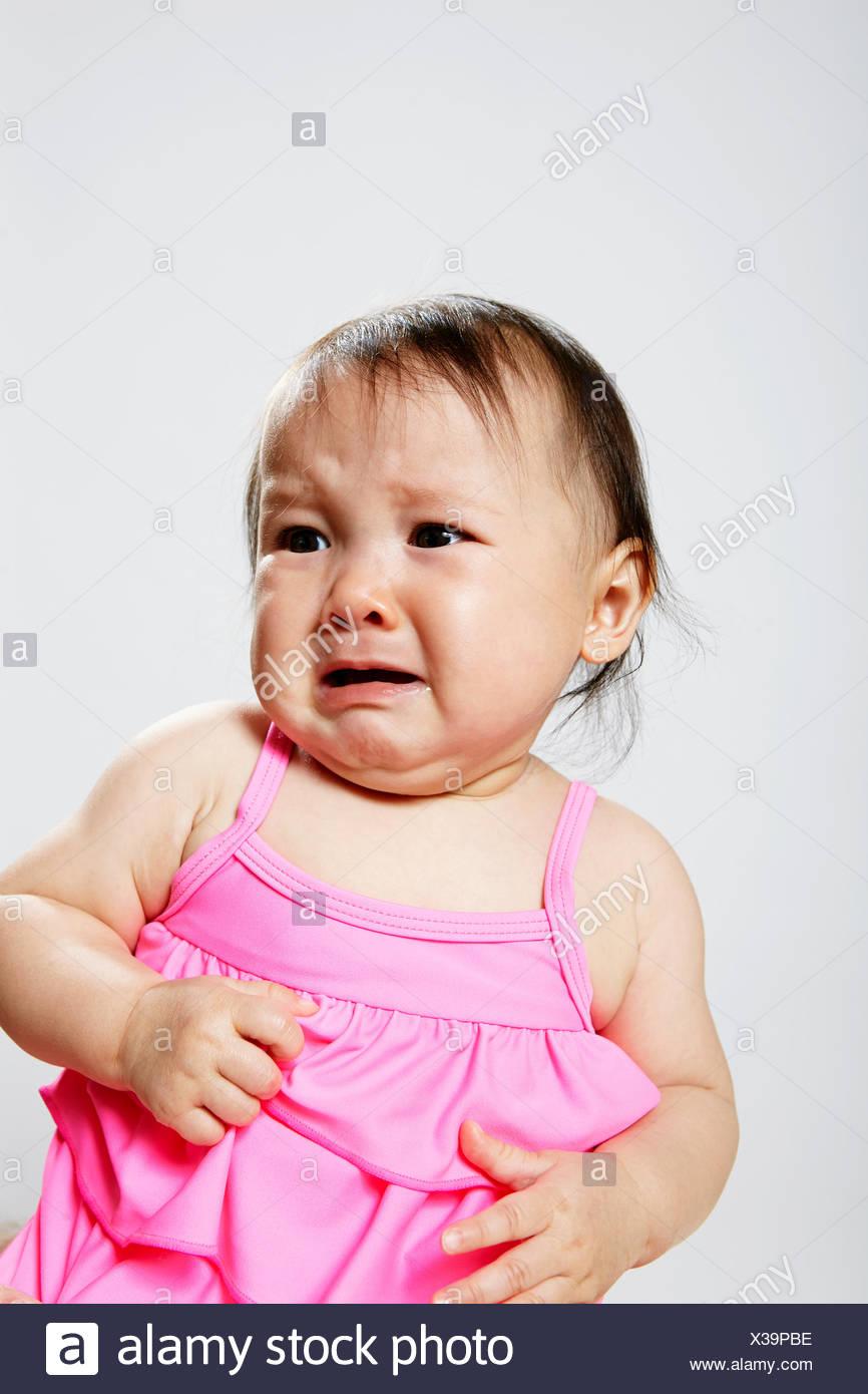 Portrait de petite fille, pleurer Photo Stock