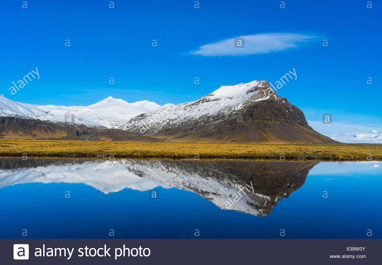 Le lac glaciaire - Islande Vatnajökull Photo Stock