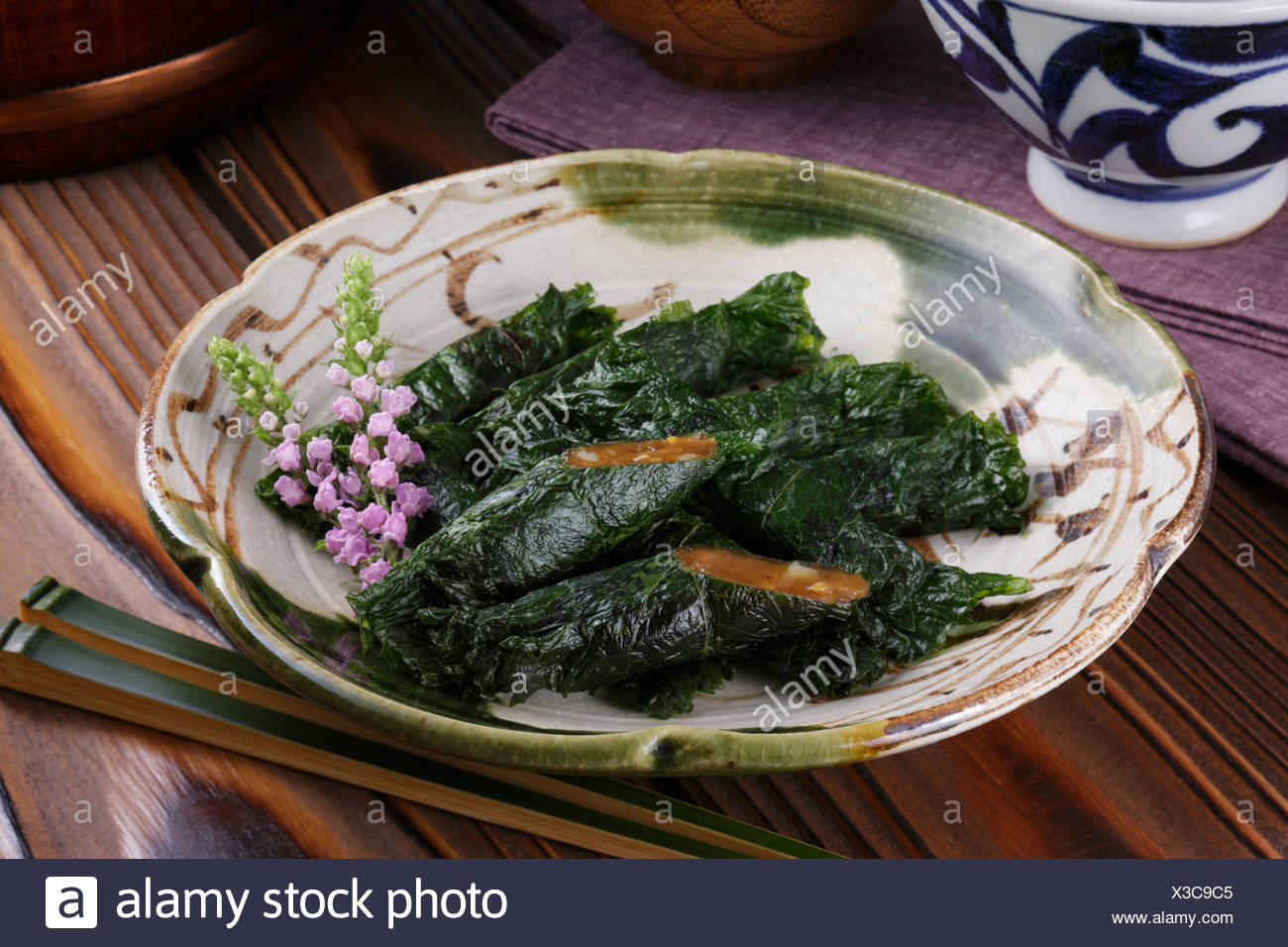 Shiso-maki Photo Stock