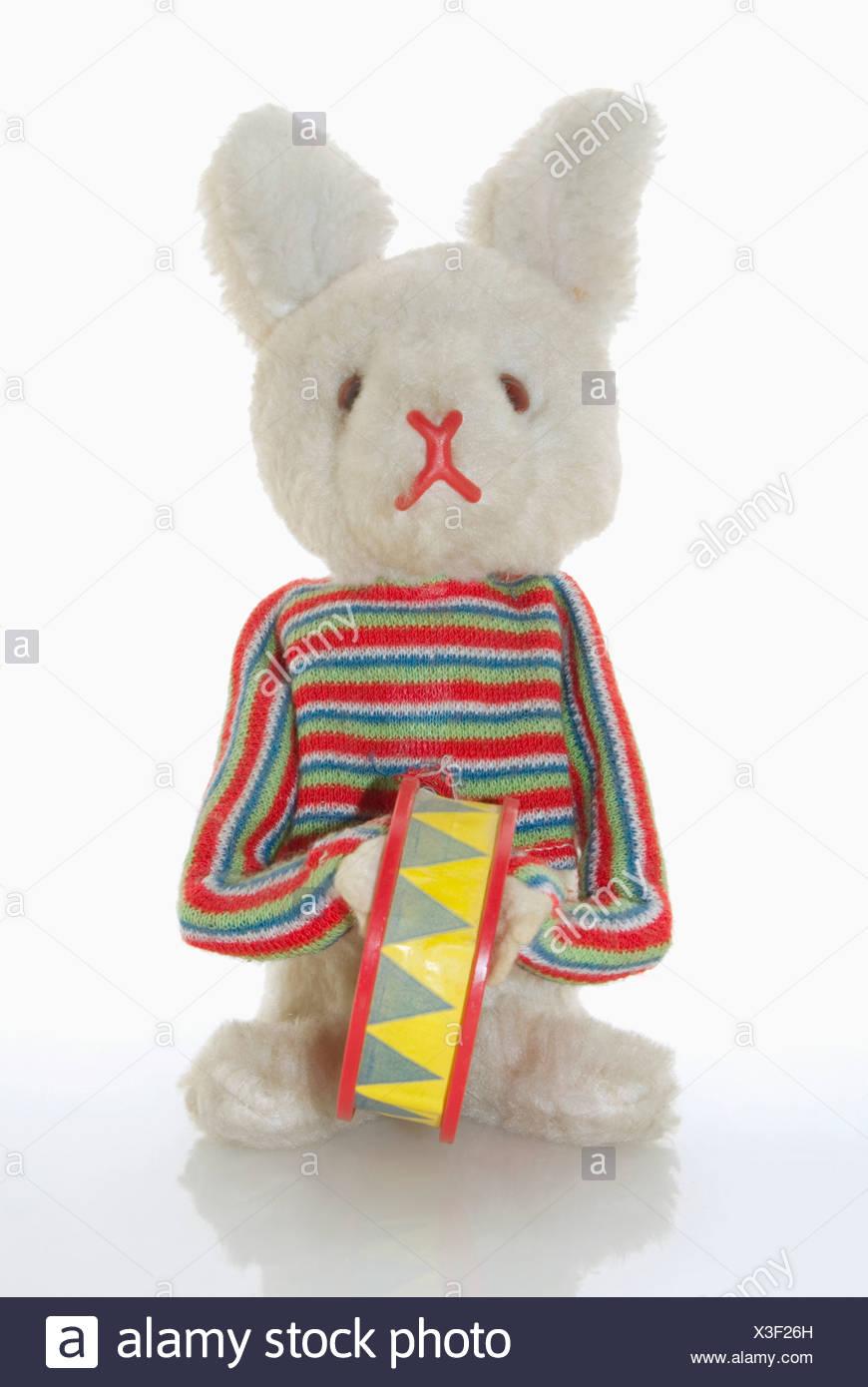 Toy bunny, close-up Photo Stock