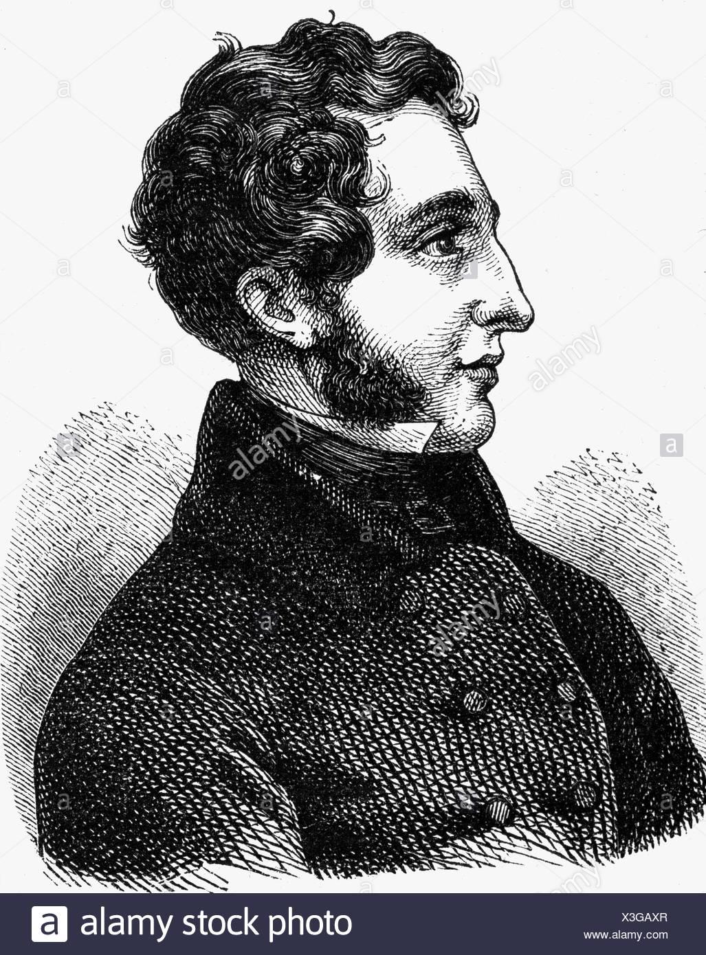 Bulwer-Lytton, Edward, 1. Baron Lytton, 25.5.1803 - 18.1.1873, politicien britannique et auteur/écrivain, portrait, gravure de bois, XIXe siècle, Banque D'Images