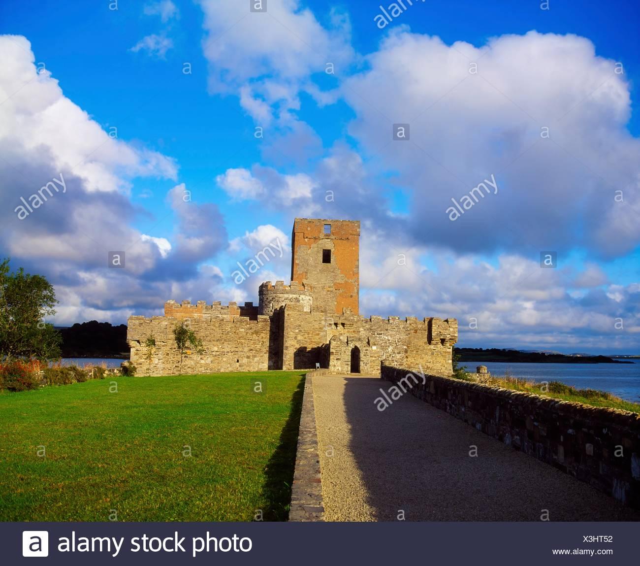 Doe Castle, Co Donegal, Irlande; 16ème siècle Paradise Photo Stock