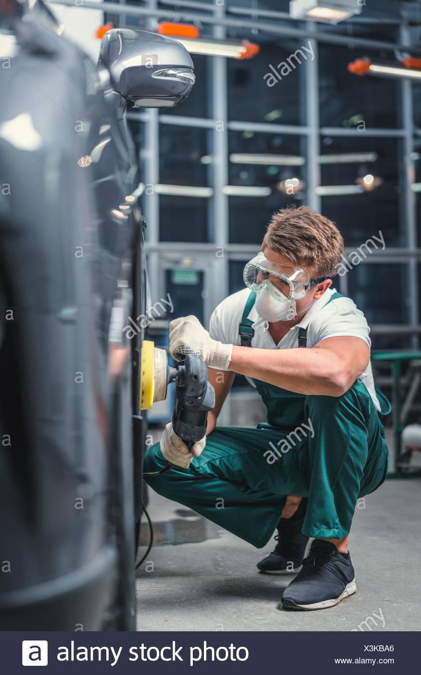 Mécanicien en uniforme Photo Stock