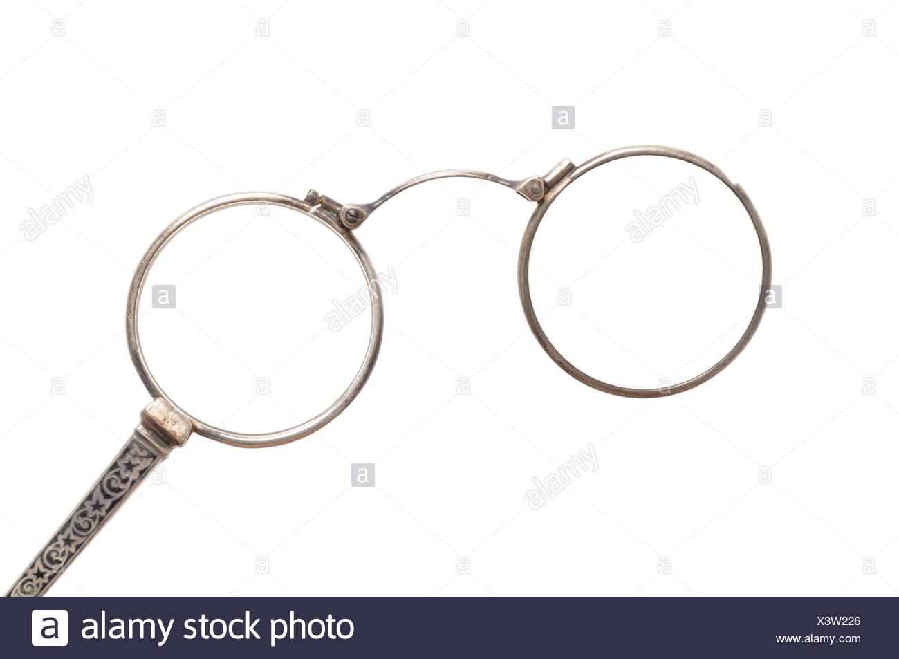 eeb710ada4 Isolés, antique, lunettes, lunettes, lunettes, vieux, argent, autrefois,
