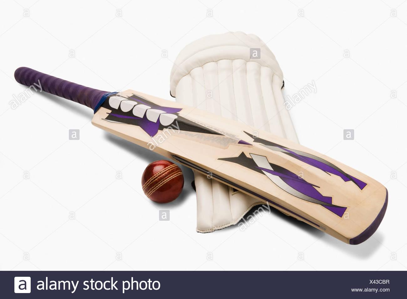 Close-up de matériel de cricket Photo Stock
