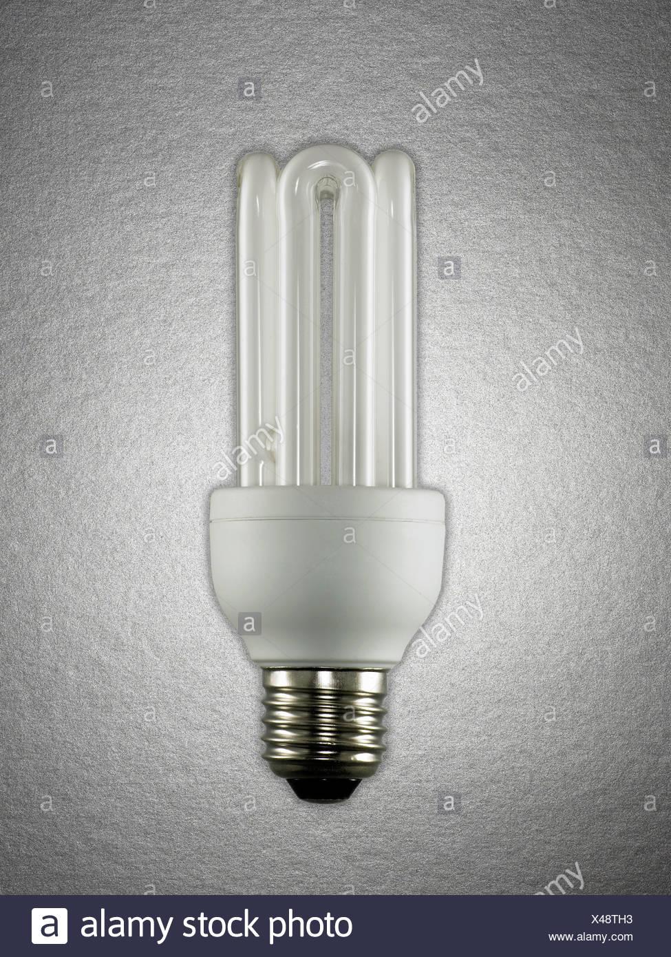 Ampoule à économie d'énergie Photo Stock