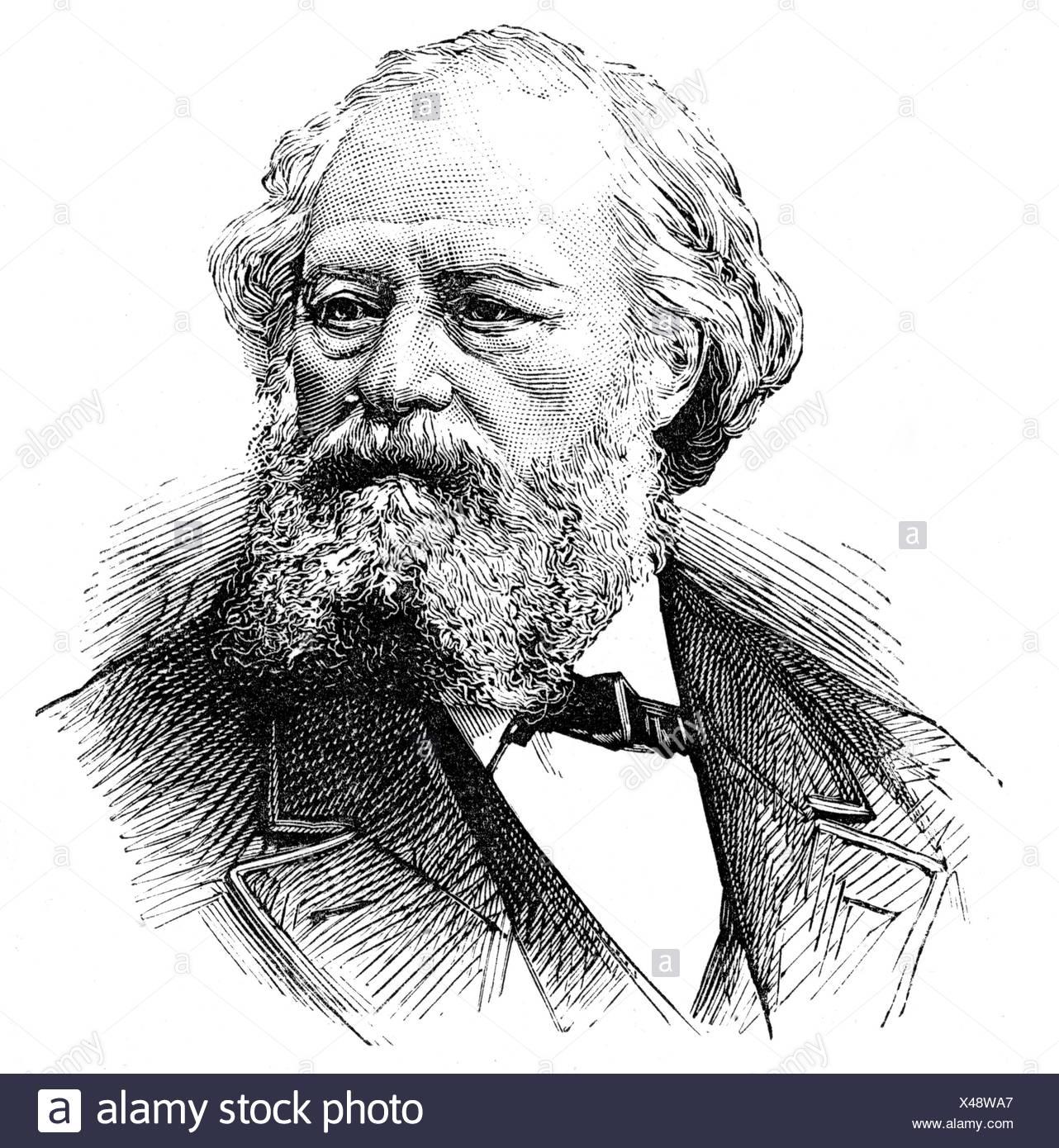 Francais, F. L., 1814 - 1897, peintre français, portrait, gravure sur bois, , Additional-Rights-Jeux-NA Photo Stock