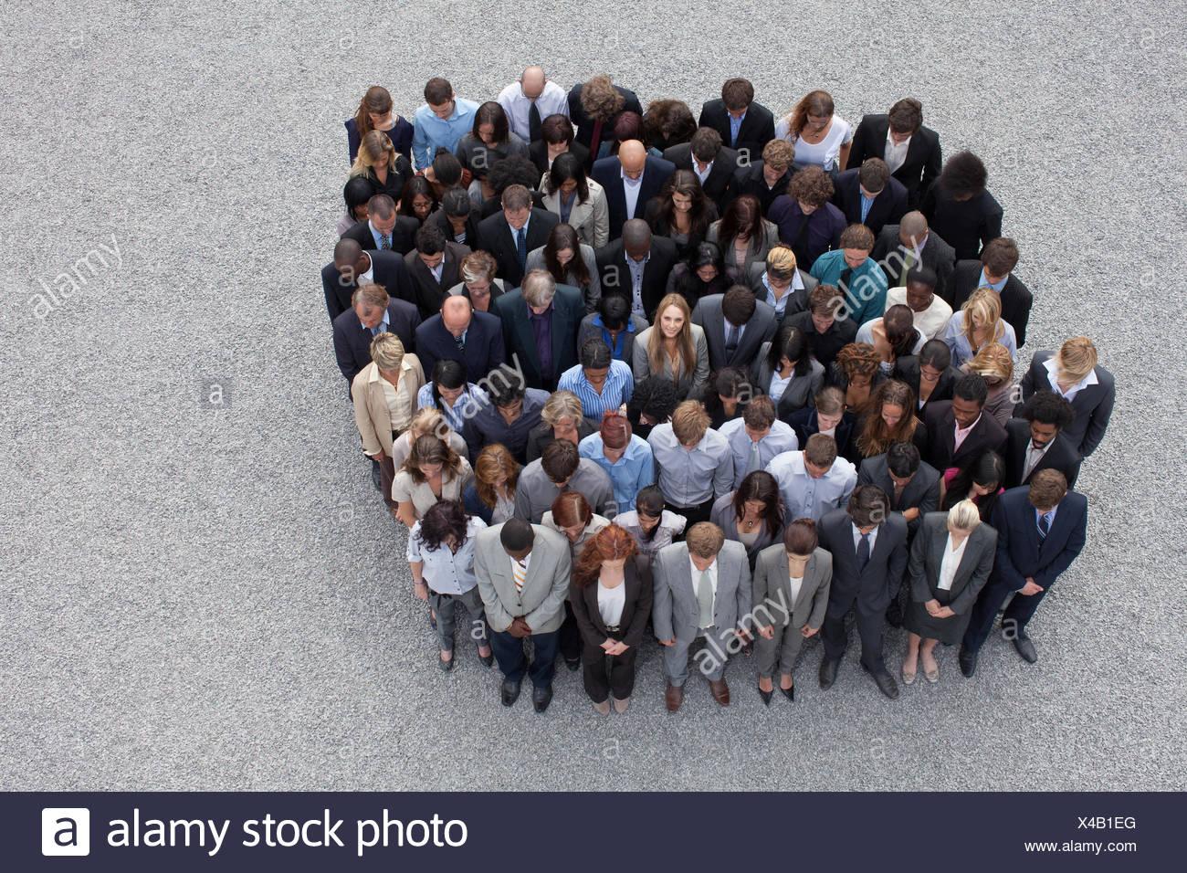 Grand groupe de gens d'affaires Photo Stock