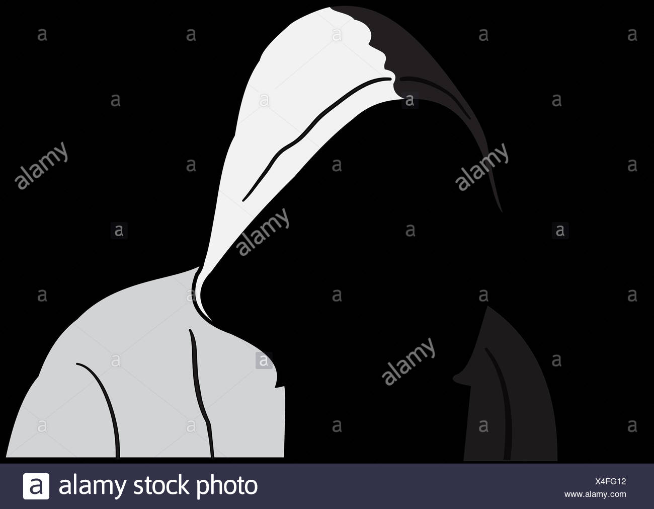 Silhouette d'anonymous Photo Stock