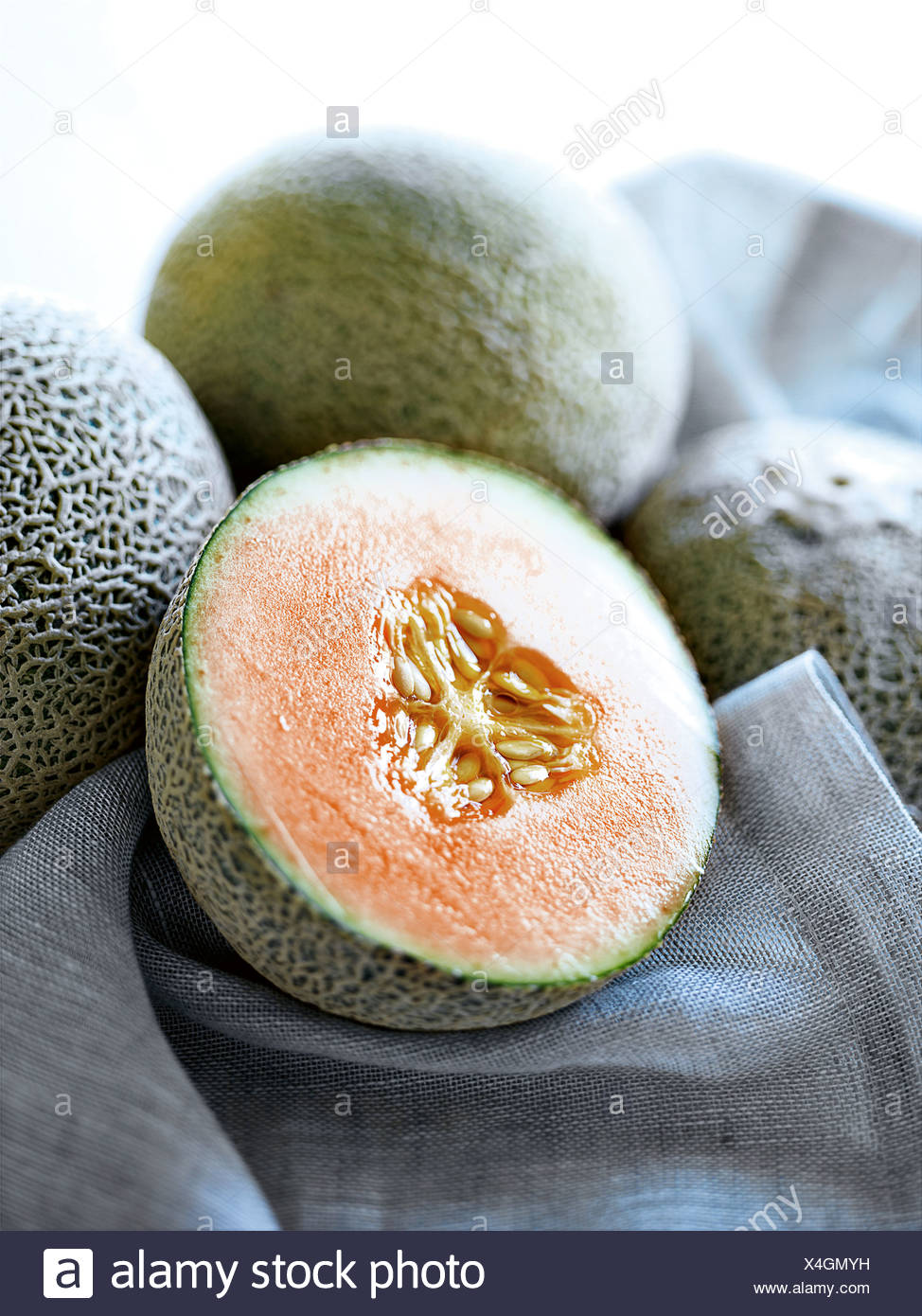 Close up de melon de moitié Photo Stock