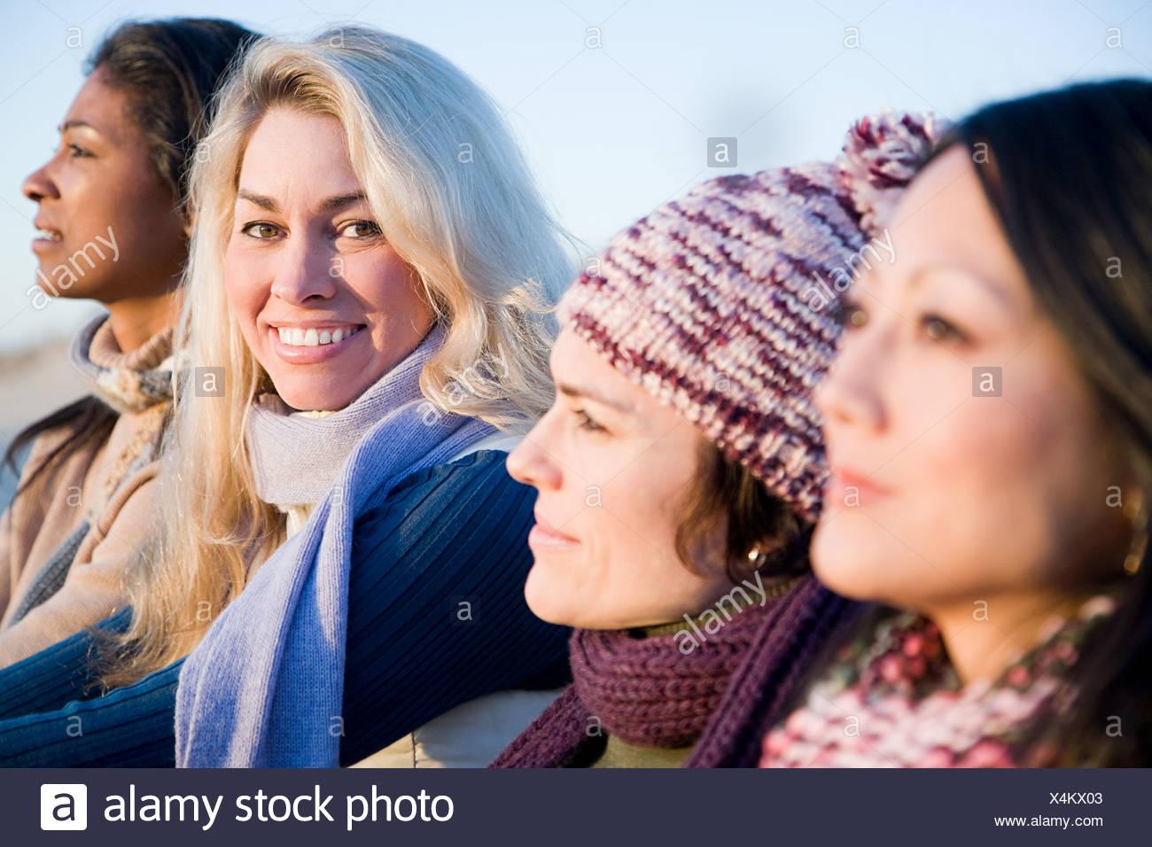 Quatre femmes mûres Photo Stock