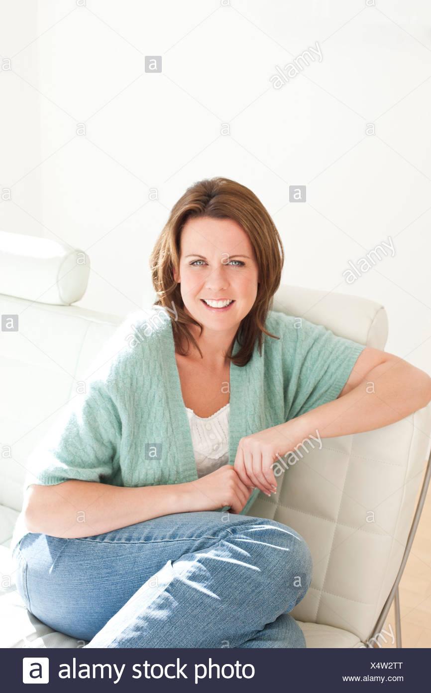 Femme heureuse Photo Stock