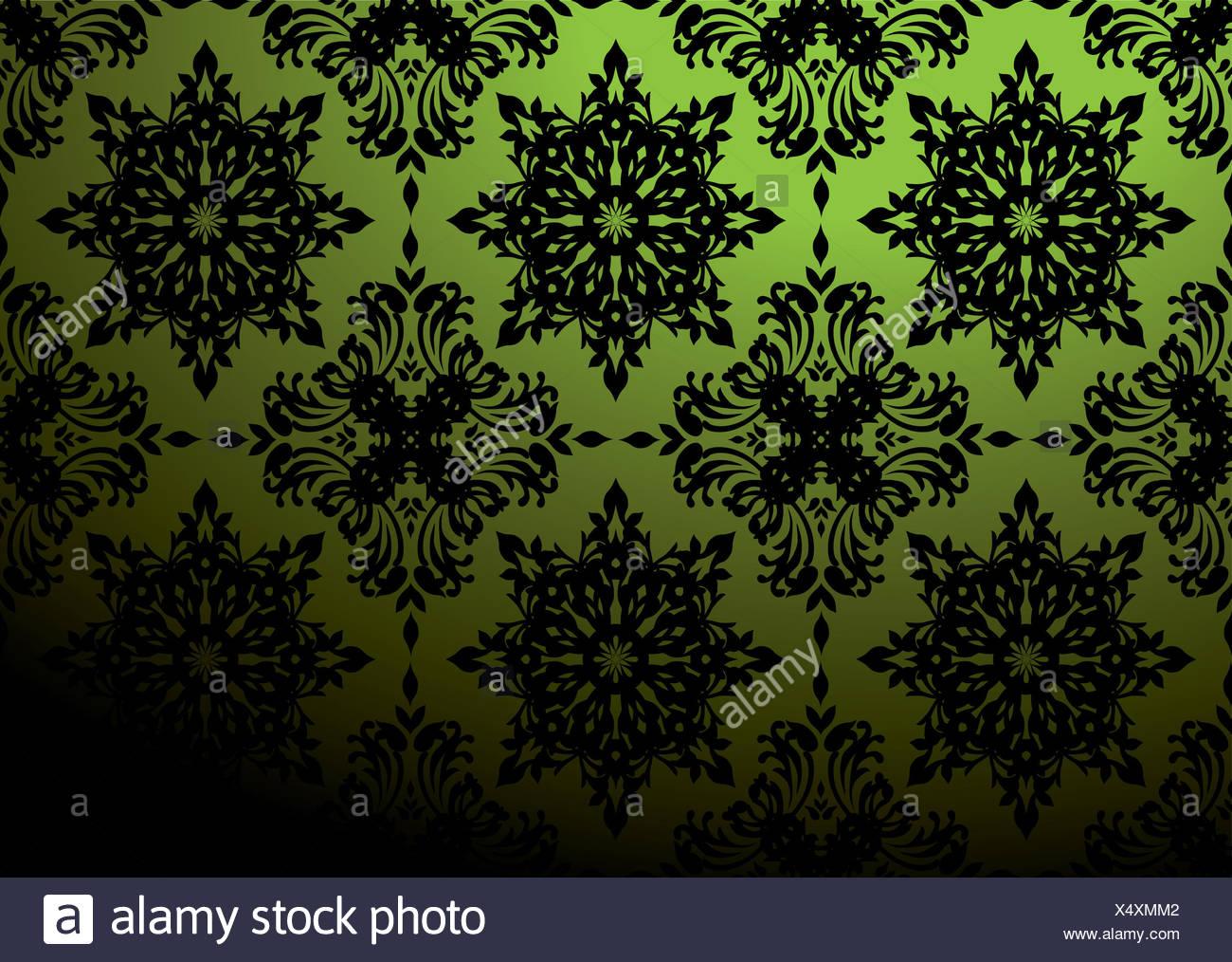 Papier Peint Baroque Antique Rideaux Motif Toile Fond Fond Noir