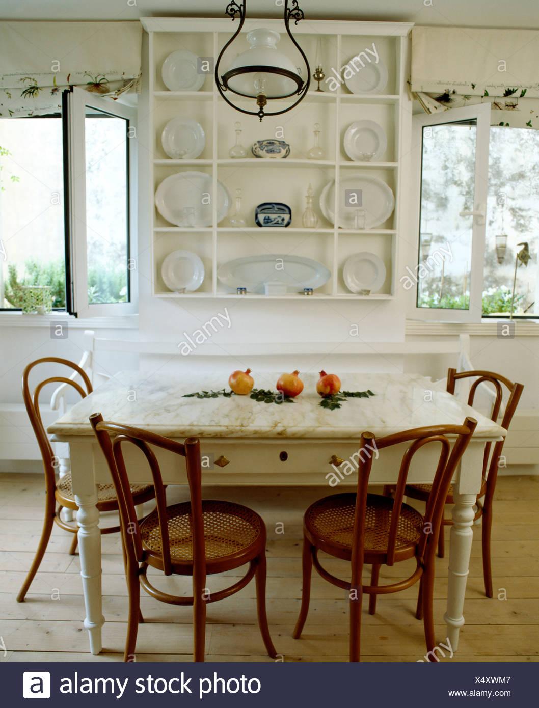 et à l'ancienne De étagères simples peint table blanches l1uKc3TFJ