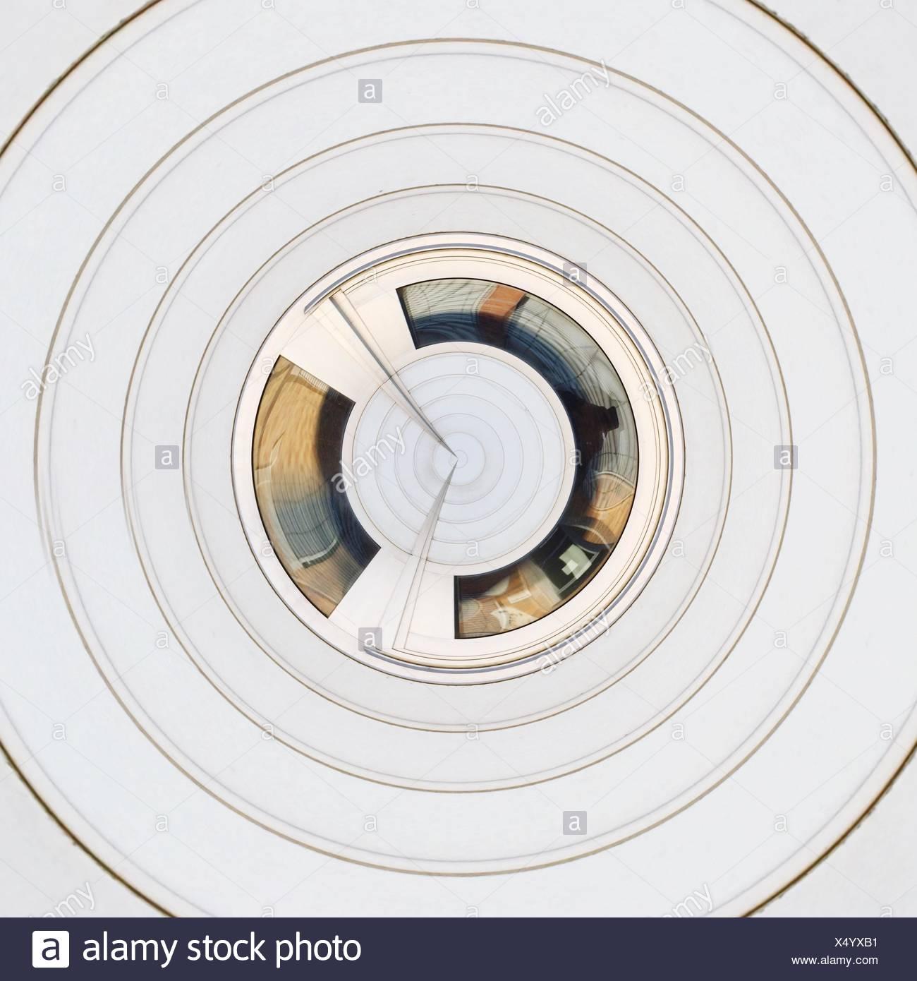 Résumé motif blanc concentriques Photo Stock
