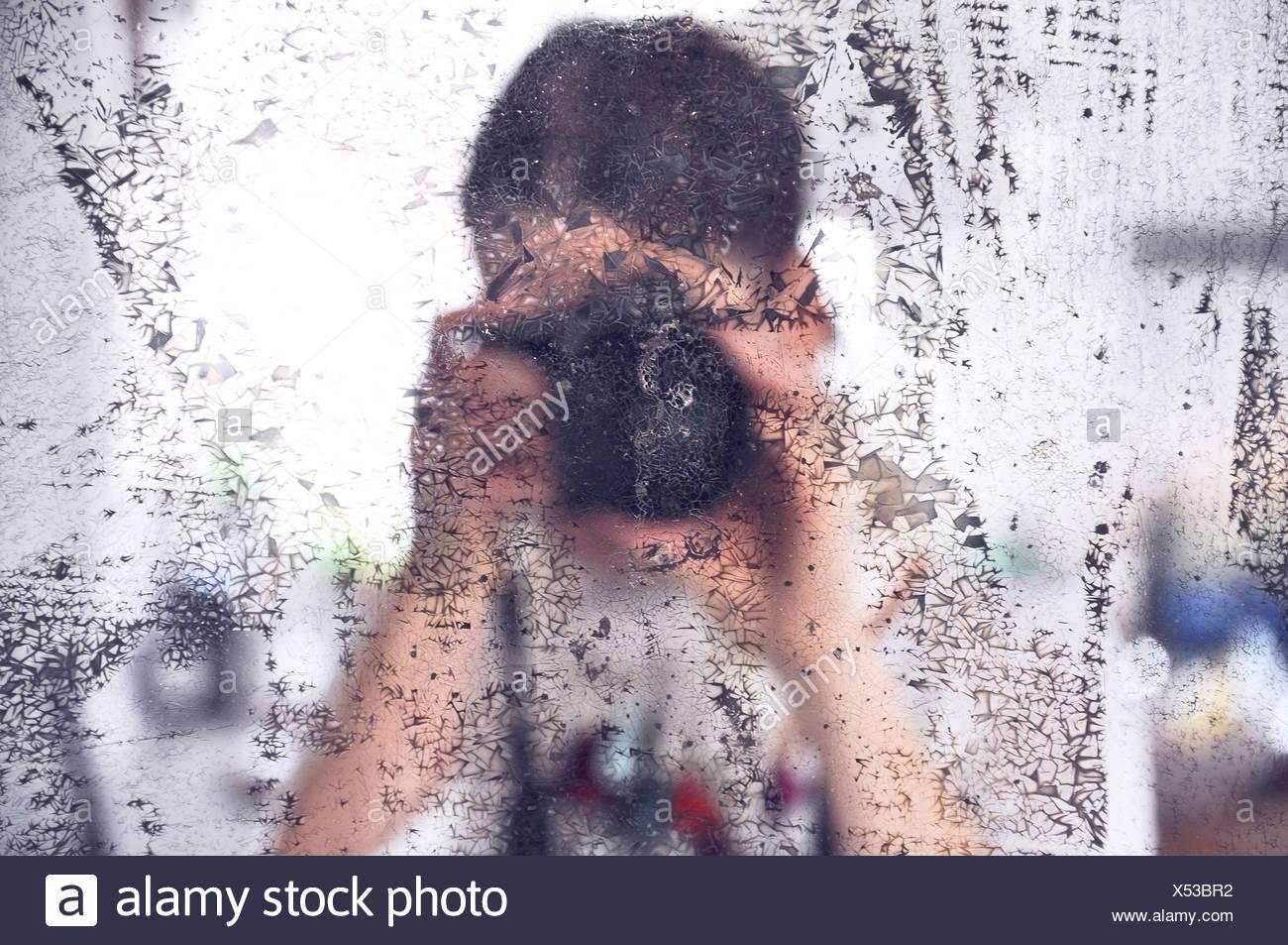 Photographie de photographe miroir sale Photo Stock