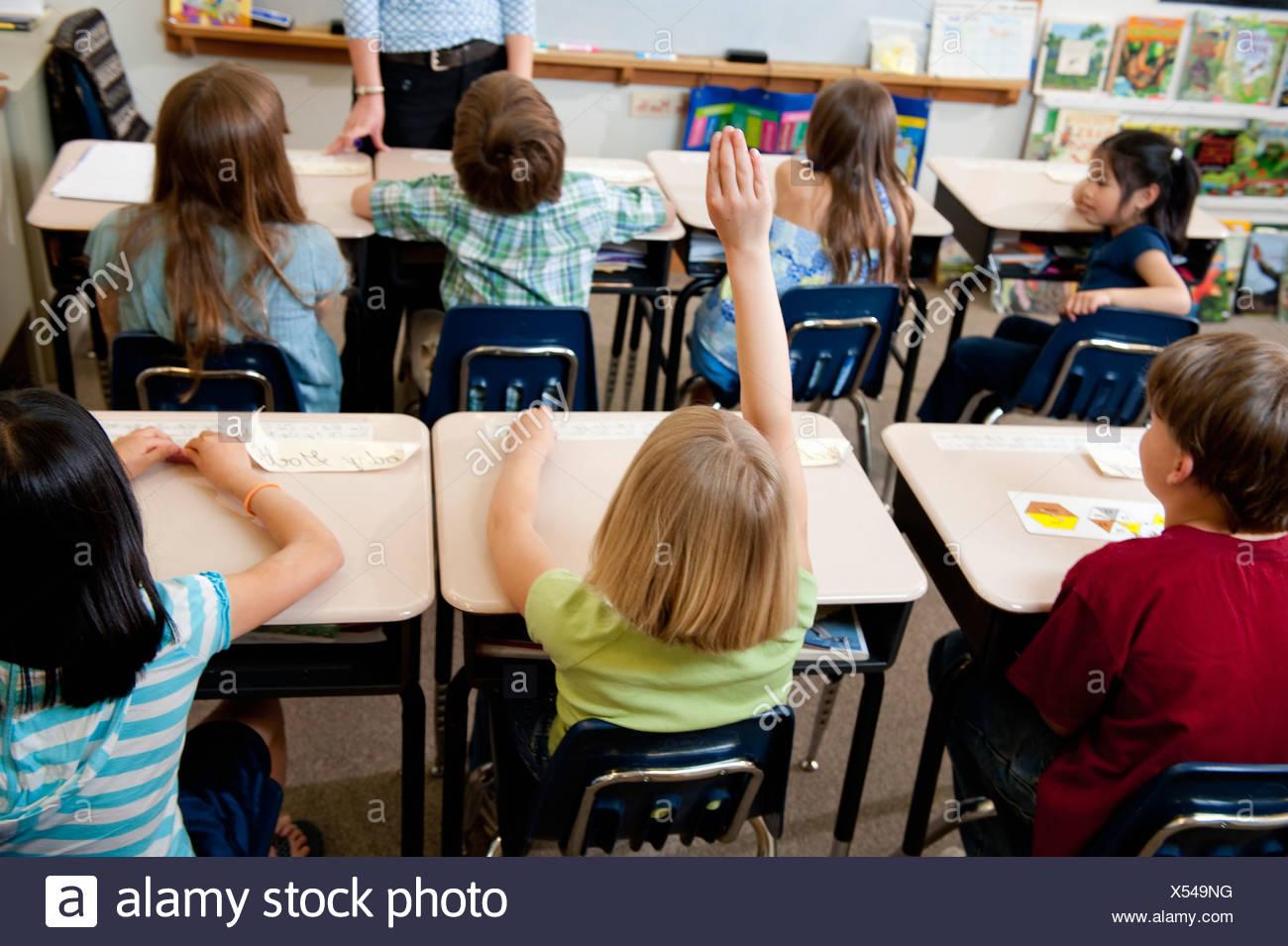 La participation de la classe de l'école élémentaire Photo Stock