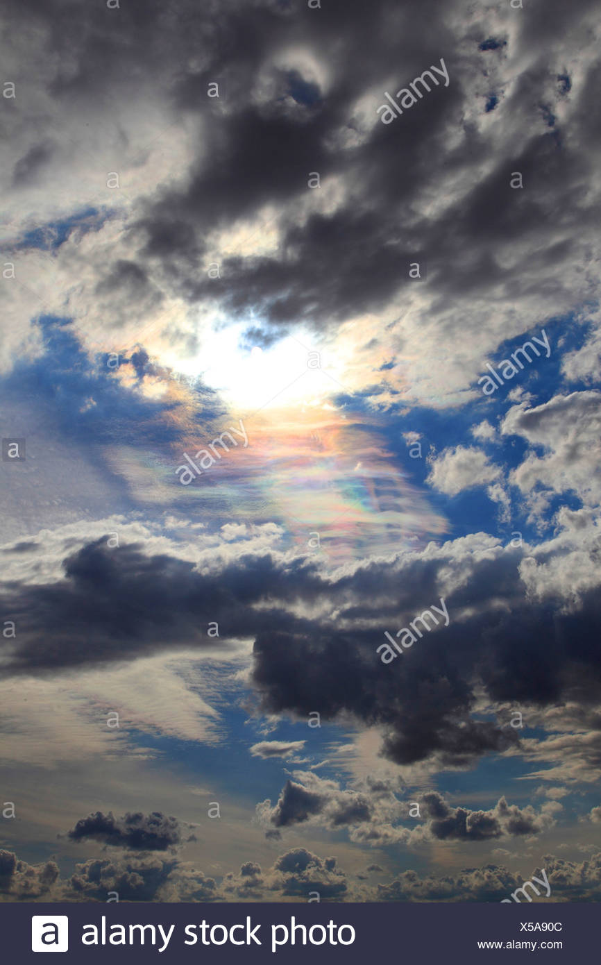 L'iridescence cloud, Allemagne Photo Stock
