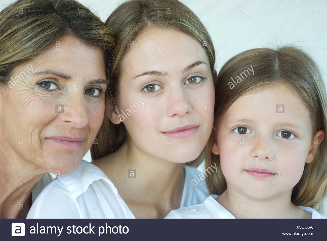 Mère, fille et grand-mère, portrait Photo Stock