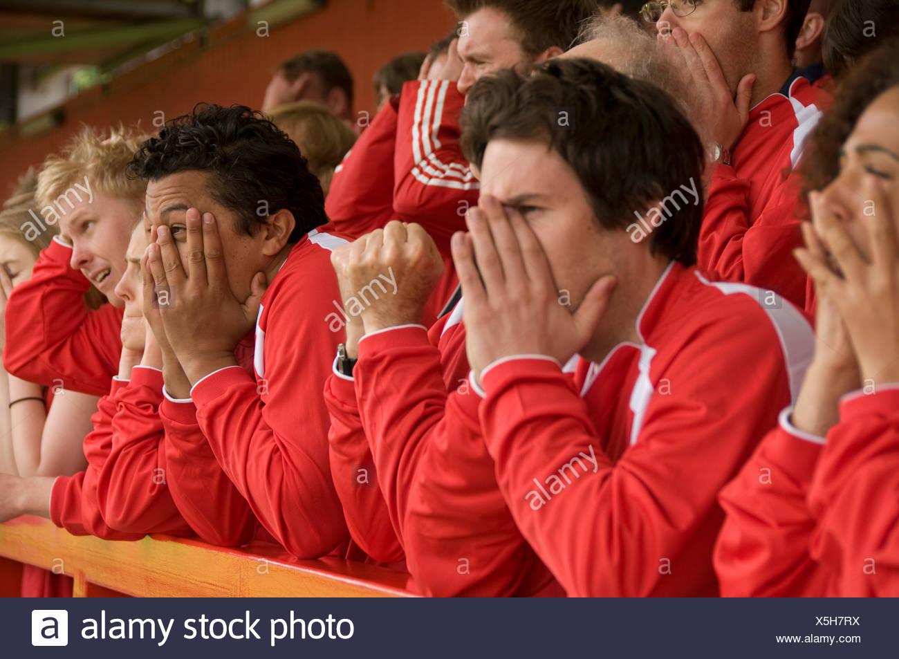 Groupe de supporters frustrés Photo Stock