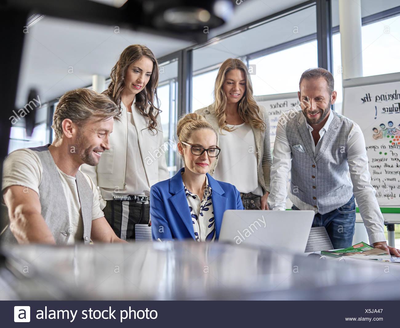 Équipe créative, présentation, projet, atelier, séminaire, formation pour les cadres supérieurs, l'éducation des adultes, de l'Autriche Photo Stock