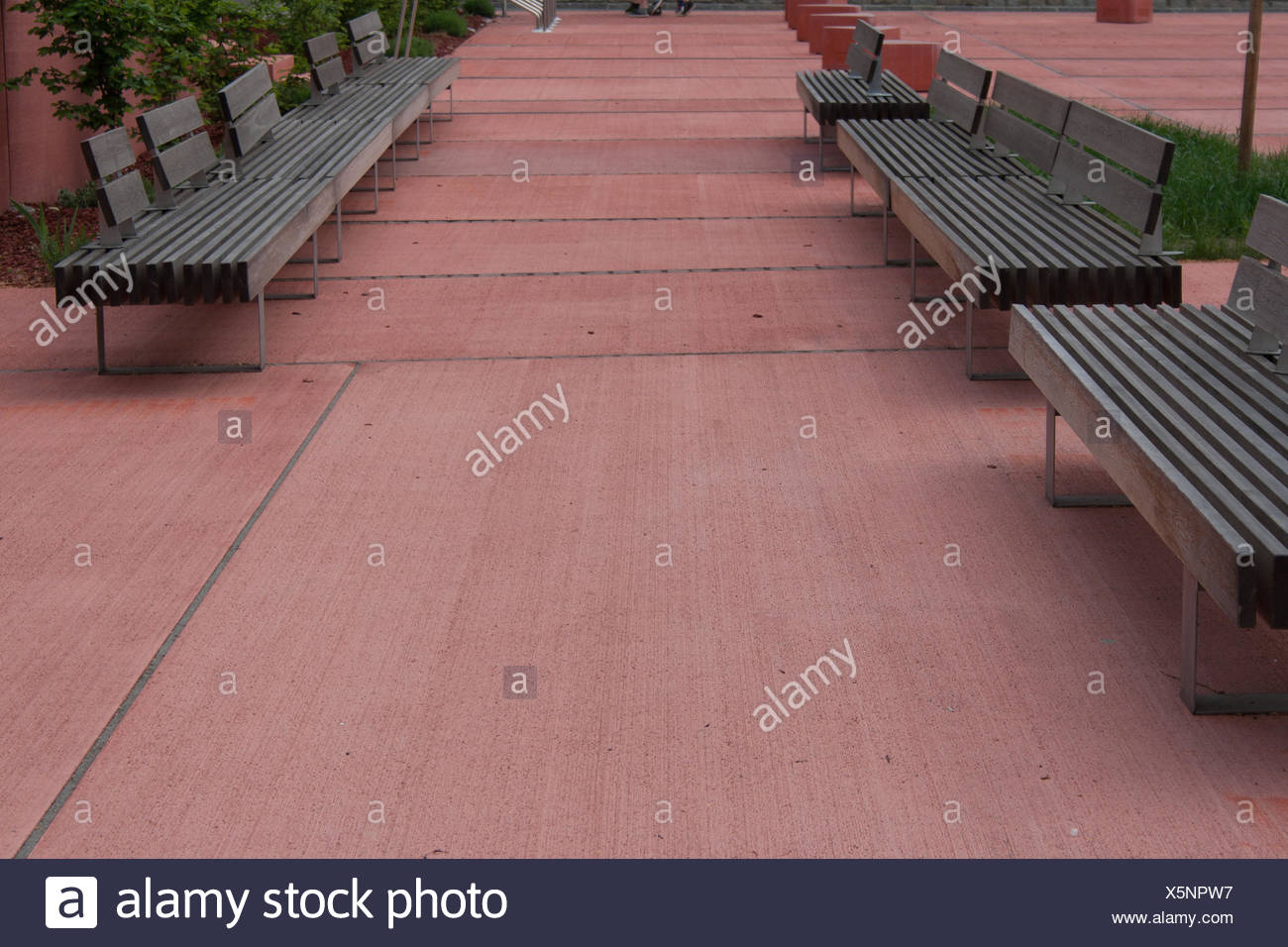 Les autrichiens, bancs, carré, Basse-Autriche, couleur, siège, banc, couleurs, Photo Stock