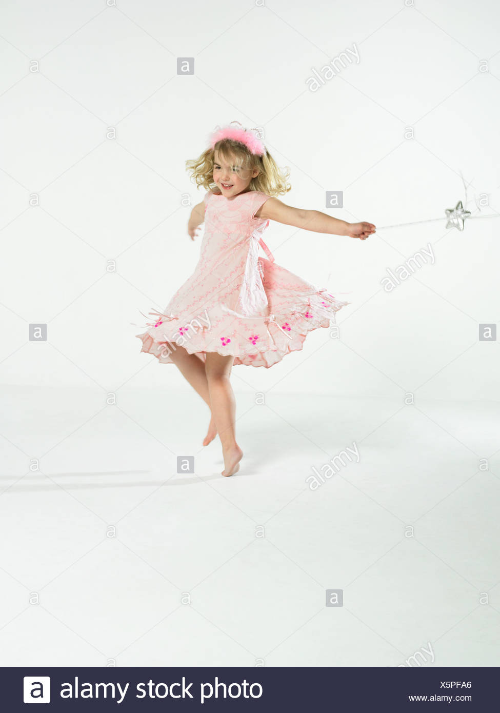 Fille avec fairy wand Photo Stock