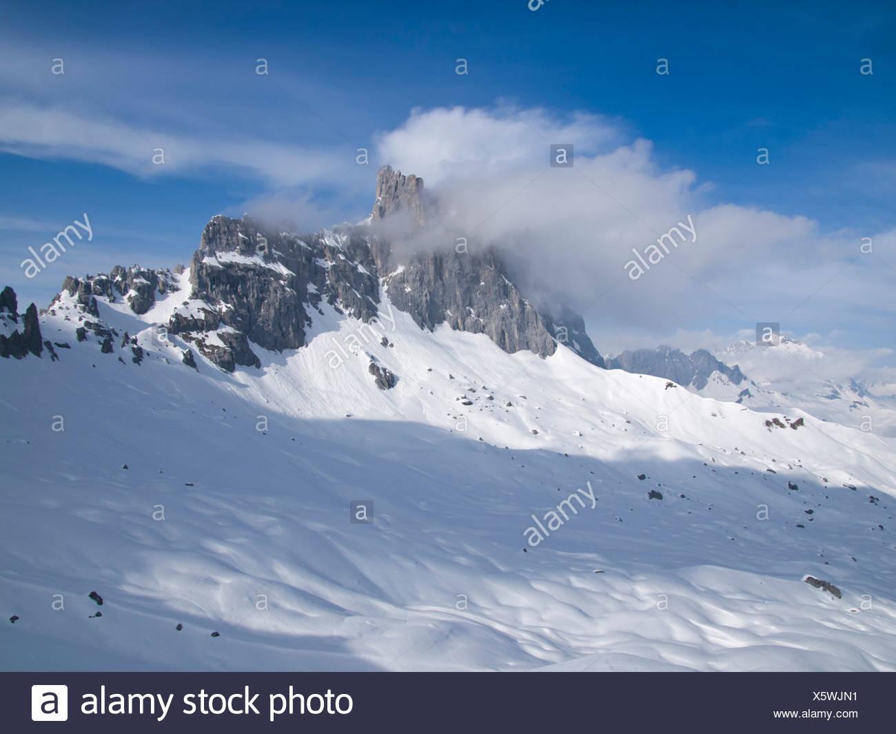 Alpes, chaîne de montagne, Drusenfluh, Grisons, Grisons, Photo Stock