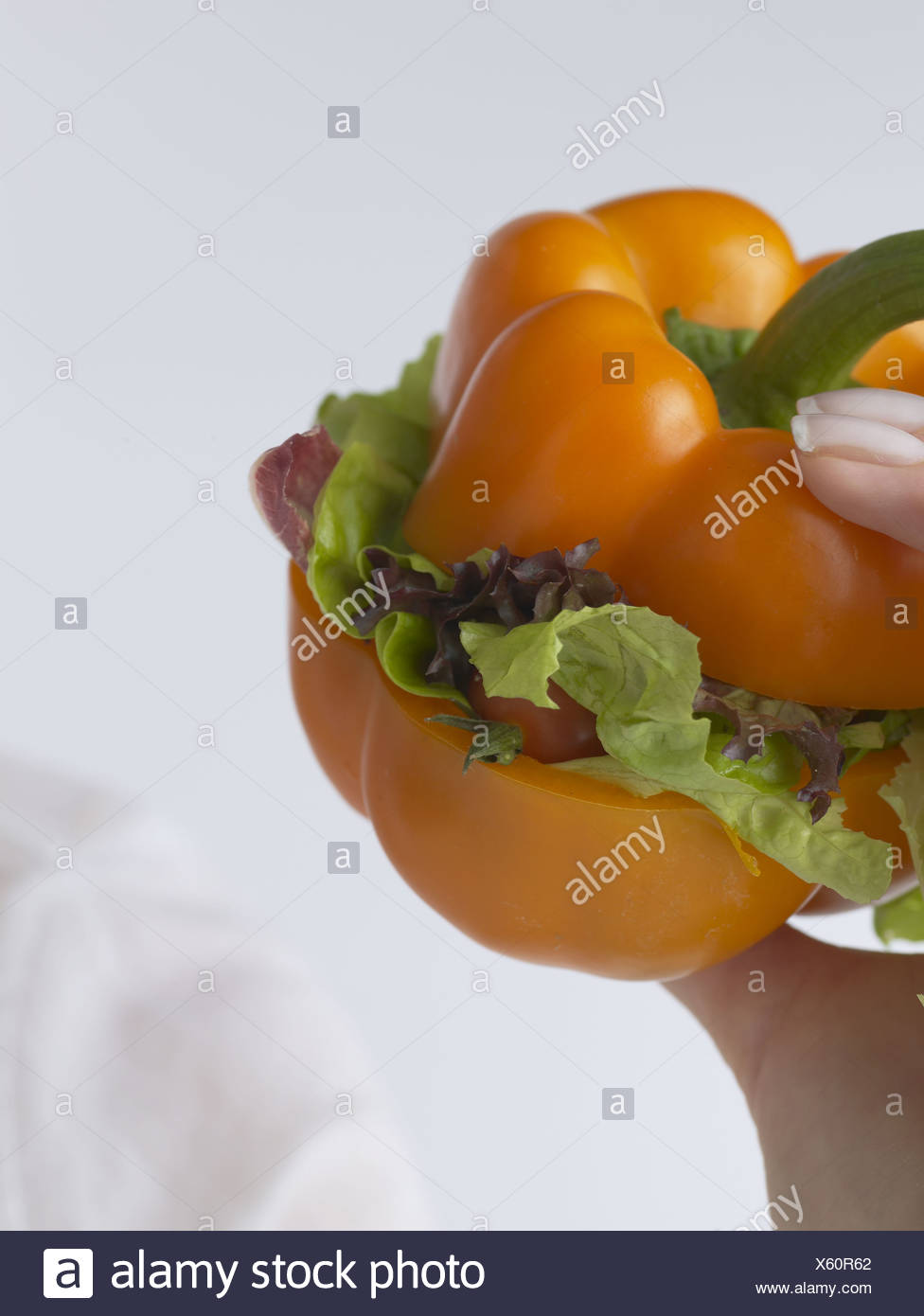 Pepper vegie-burger Photo Stock