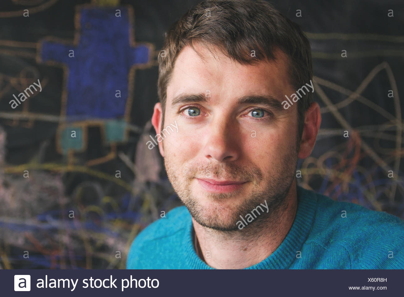 Portrait of a Mid adult man Photo Stock