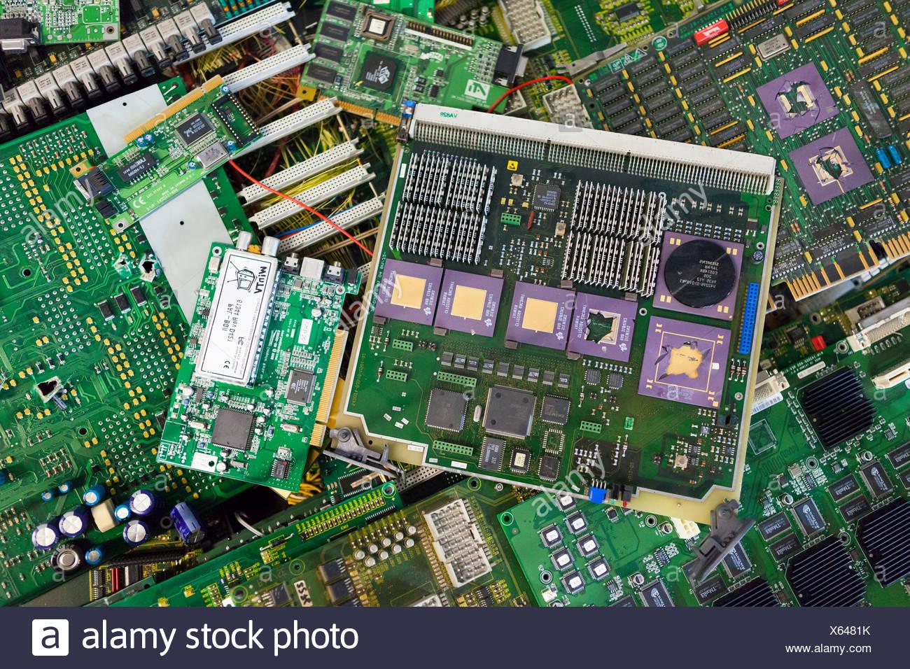 Les déchets électroniques Photo Stock